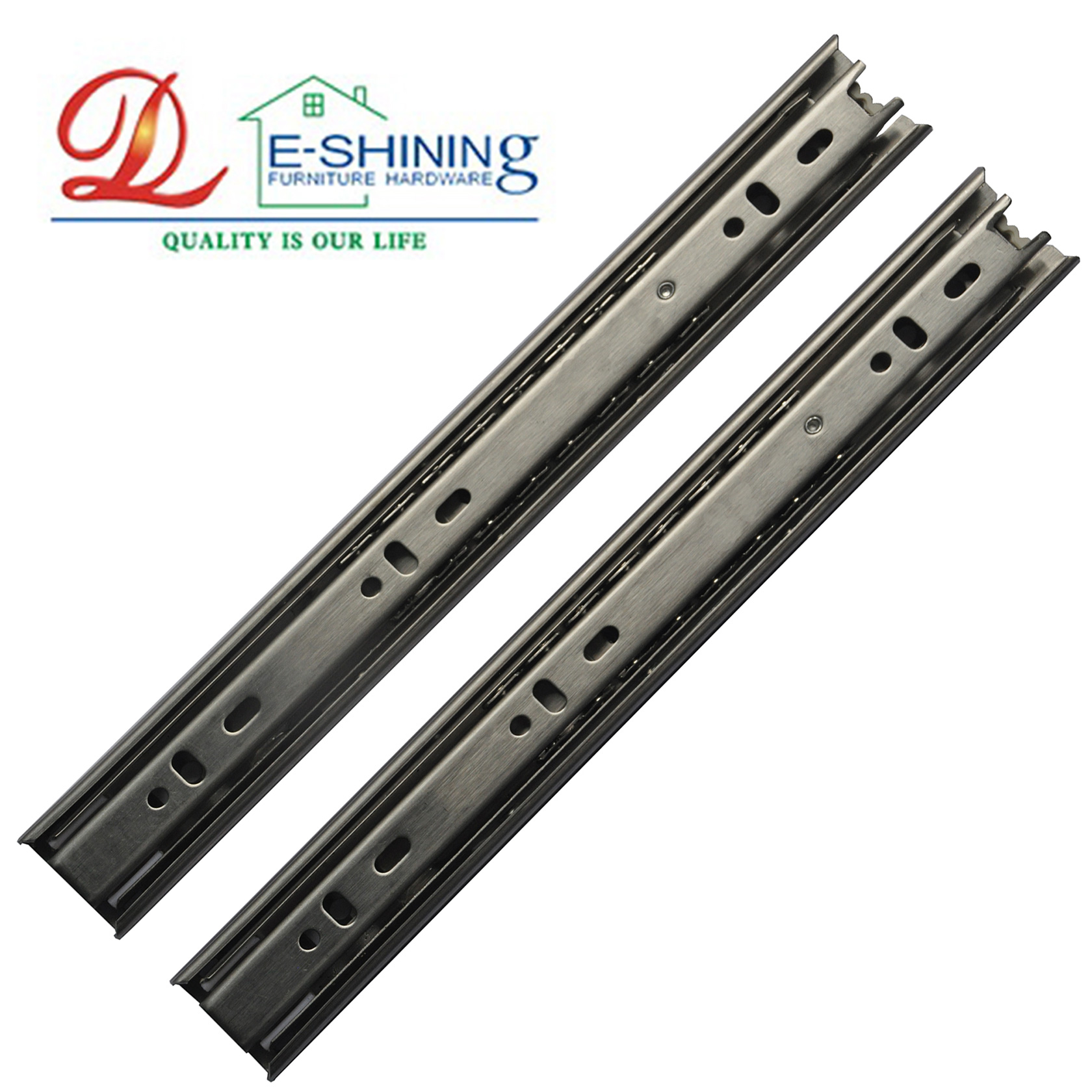 Full extension 35MM width stainless steel ball bearing drawer slide